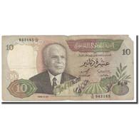 Billet, Tunisie, 10 Dinars, 1986, 1986-03-20, KM:84, TB - Tusesië