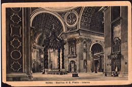 Italia - Cartolina Postale - Circa 1900 - Roma - Basilica Di S. Pietro (Interno) - Non Circolato - A1RR2 - San Pietro