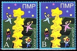 Europa - 2000 - Transnistria, PMR. **Blue A+B** (local Issue) ** MNH - 2000