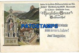 146567 AUSTRIA HERZLICHEN GRUSS AUS DEM GRÖDNERTHAL CHURCH CIRCULATED TO ITALY POSTAL POSTCARD - Sin Clasificación