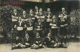 CARTE PHOTO : AUXERRE SENS EQUIPE DE RUGBY DU LYCEE S.A.L.S. 1910  SPORT 89 YONNE OUANNE MORISSET - Auxerre