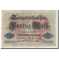 Billet, Allemagne, 50 Mark, 1914, 1914-08-05, KM:49b, TTB - 50 Mark