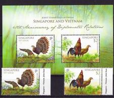 Singapore 2013 MiNr. 2186 - 2187 (Block 196) Singapur Joint Issues Vietnam Birds 2v+s\sh MNH** 5.40 € - Singapore (1959-...)