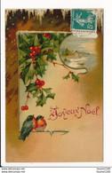 Carte De Joyeux Noël ( Oiseaux Rouge Gorge / Houx ( Recto Verso ) Série 769 Kopal - Unclassified