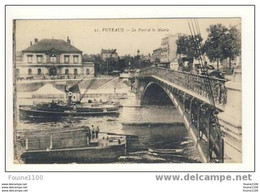 Carte  De Puteaux Le Pont Et La Mairie ( Remorqueur ) - Puteaux
