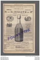 PUB 1883 Vins De Saint Péray Giraud ( Ardèche ) Aristide Vegua BORDEAUX Château Girondin Roux à CUBZAC - Publicités