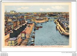 Carte De NANTES  L' île Feydeau Avant Le Comblement De La Loire Et La Disparition Des Ponts   ( Recto Verso ) - Nantes