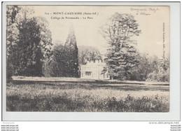 Carte De MONT CAUVAIRE  Collège De Normandie Le Parc    ( Recto Verso ) - Altri Comuni