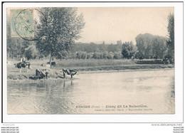 Carte De GISORS  étang Dit La Balastière  ( Vache )  ( Recto Verso ) - Gisors
