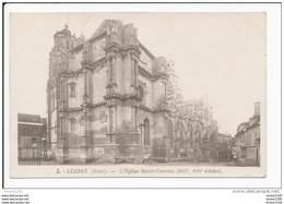 Carte De GISORS  L' église Saint Gervais ( Recto Verso ) - Gisors