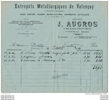Facture  Quincaillerie AUGROS  à Valençay  Année 1936 - Other