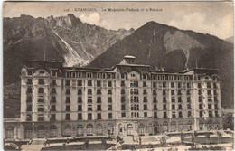 61thd 936 CPA - CHAMONIX - LE MAJESTIC PALACE ET LE BREVENT - Chamonix-Mont-Blanc