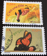TIMBRES   DE    FRANCE   N° 40  ET  41        OBLITÉRÉS  ( LOT:5348 ) - KlebeBriefmarken