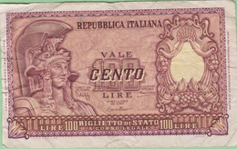 Italie - Billet De 100 Lire - 31 Décembre 1951 - P92a - 100 Lire