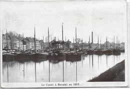 [ LIE 1 ]   Herstal    --    (  6  )    Le Canal  En 1910 (reproduction Photo) - Herstal