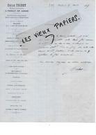 21 - Côte-d'or - POUILLY-EN-AUXOIS - Facture TRIBET - Horlogerie, Bijouterie, Orfèvrerie, Etc - 1887 - REF 172A - 1800 – 1899