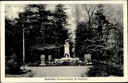 CPA Chomutov Komotau Region Aussig, Kriegerdenkmal Im Stadtpark - Czech Republic