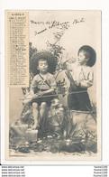 Carte Calendrier  Plaisirs D' été  ( Saisons ) Juillet 1904 Enfant Pêche ( Recto Verso ) Photo Clayette - Sin Clasificación