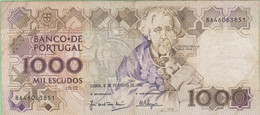 Portugal - Billet De 1000 Escudos - Teofilo Braga - 8 Février 1992 - Portugal