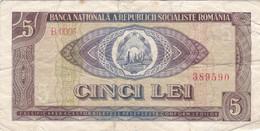 Roumanie - Billet De 5 Lei - 1966 - P93a - Romania