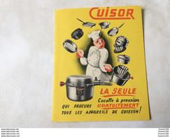 Petit Livret  Publicitaire CUISOR  ( Cocotte à Pression ) Article De Cuisine - Reclame