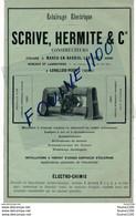 PUB 1886 éclairage électrique Scrive Hermite & Cie Marcq En Baroeul Lez Lille Levallois Perret / Journal Le Figaro - Reclame