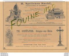 Schulter COLOGNE SUR RHIN Spelleken Nachf Pfarr Marquart BEUEL S RHIN Aachener Thonwerke FORST LEZ AIX LA CHAPELLE - Advertising