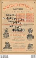 Pub De 1897 Parfumeur Savon Lavande Demarson Chételat Rue Saint Martin PARIS Constructeur De Pompes Letellier ( Puits ) - Pubblicitari