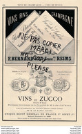 Vins De Champagne VANDER VEKEN REIMS Vin De ZUCCO Duc D'aumale Bordeaux Château Gruaud Larose Sarget SAINT PERAY Giraud - Publicités