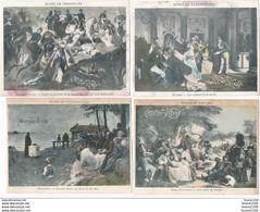 """LOT De 8 """" Chromo / Image """" Du CHOCOLAT VINAY  ( Recto Verso ) ATTENTION MAUVAIS ETAT - Andere"""