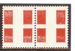 Vignette Expérimentale Croix De Savoie DOUBLE FORMAT POUR ROULETTE (rare) - Probedrucke