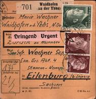 ! 1943 Waidhofen An Der Ybbs Nach Eilenburg, Paketkarte, Deutsches Reich, 3. Reich - Covers & Documents