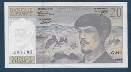 Billet  20 Fr  Debussy  De  1993 - 20 F 1980-1997 ''Debussy''