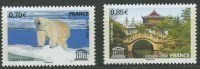"FR Service YT 144 & 145 "" UNESCO "" 2009 Neuf** - Mint/Hinged"