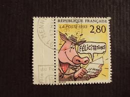 """1990-99 - Oblitéré N°  2842  """"   Plaisir D'écrire""""   """"  Mennecy    """"      Net   0.60   Photo  2 - Used Stamps"""