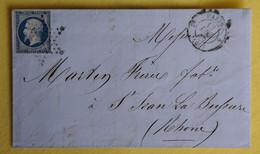 France - N°14A - Lettre De PARIS Pour ST JEAN-LA-BUSSIERE Du 12 Décembre 1855. - 1853-1860 Napoleon III