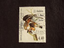 """1990-99 - Oblitéré N°  2932  """"   Tableau Audubon , Buse""""      """"   Mennecy """"      Net    0.70 - Used Stamps"""