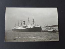 """Carte Photo Bateau, Paquebot - """"Lapland"""" Leaving Southampton / Daté En 1908 - Passagiersschepen"""