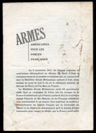 Armes Américaines Pour Les Forces Françaises- Office D'information De Guerre Des États-Unis - France