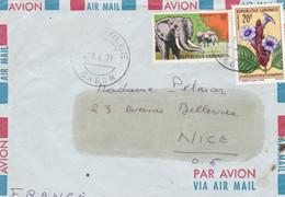 LIBREVILLE, Par Avion, 1971, Partie D'enveloppe - Gabon