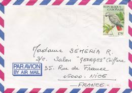 LIBREVILLE, Par Avion, 1990, Partie D'enveloppe - Gabon