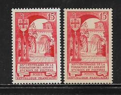 FRANCE  ( FR5 - 367 )  1952  N° YVERT ET TELLIER  N° 926/926b   N** - Neufs