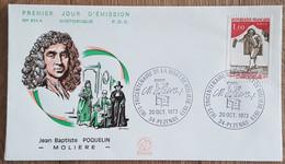 FDC 1973 - YT N°1771 - MOLIERE - PEZENAS - 1970-1979