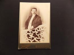 Cdv Cabinet Monsieur à Lunettes Et Moustaches Parnasse Constantinople - Identifizierten Personen