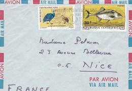 BANGUI, Par Avion,1971, Partie D'enveloppe, Flamme Parc National De St Floris - Centraal-Afrikaanse Republiek