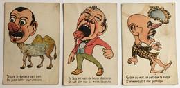 "Illustrations ""humour & Caricature"" - Lot De 3 CPA - P.C Paris - Humour"