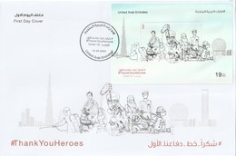 United Arab Emirates Thank You Hereos - Covid-19 FDC - Emiratos Árabes Unidos