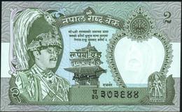 ♛ NEPAL - 2 Rupees Nd.(1981-2001) {sign. Dipendra Purush Dhakal 2000-2001} UNC P.29 B(4) - Nepal