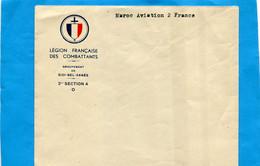 """Marcophilie-enveloppe Neuve """"Légion Française Des Combattants""""- Sidi Bel Abbès--1942 - Guerra De 1939-45"""