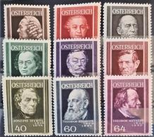 AUSTRIA 1937 - MLH - ANK 649-657 - Complete Set! - Nuevos